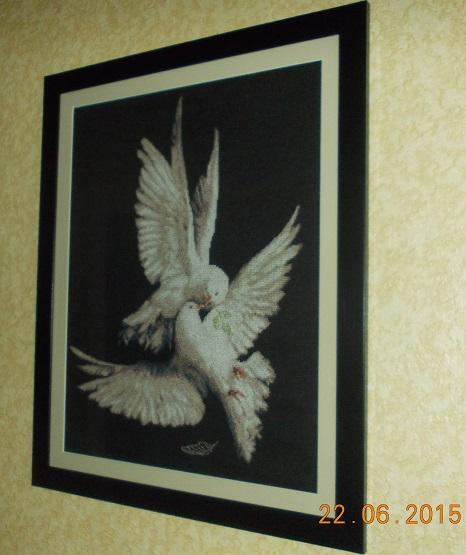Вышивка схема моя голубка