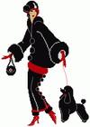 Схема для вышивки крестом «Дама с собачкой»