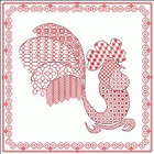 Схема для вышивки «Петух (в технике блэкворк)»