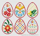 6 пасхальных дизайнов для вышивки яиц. Коллекция «Апрель 2017»