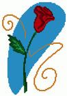 Схема для вышивки крестом «Розочка».