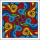 Цветоворот, схема для вышивки бискорню