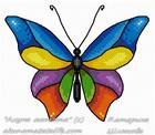 Бабочки, схемы для вышивки крестом