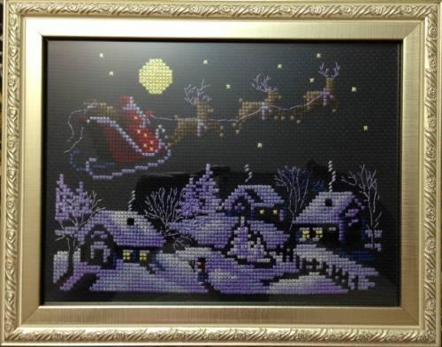 Схема для вышивки крестом «В новогоднюю ночь»