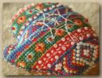Схема для вышивки крестом «Новогодняя рукавичка»