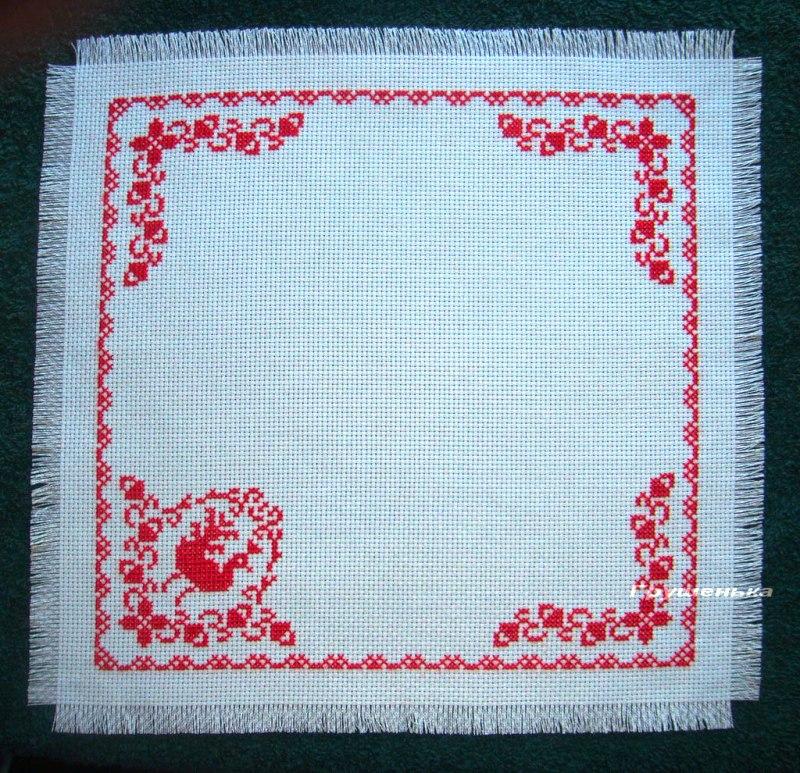 Схема для вышивки пасхальных салфеток