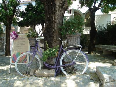 Садовый декор, велосипед для цветов